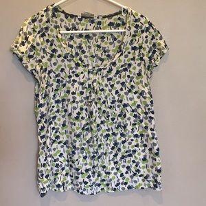 Boden silk blend floral short sleeved top sz 8